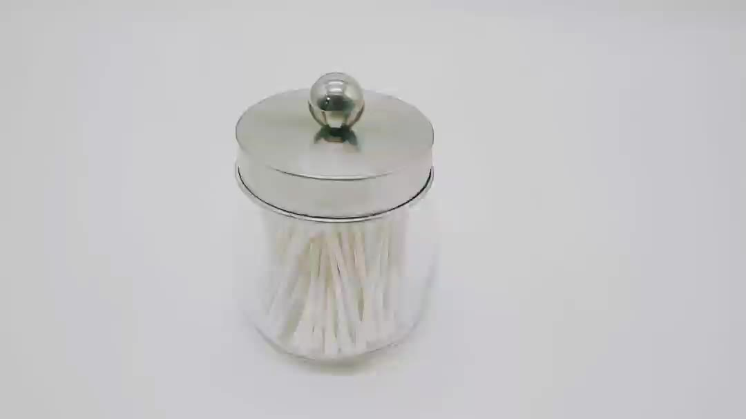 regular mouth 70mm for mason jar cotton swab use stainless steel lid with handle ball