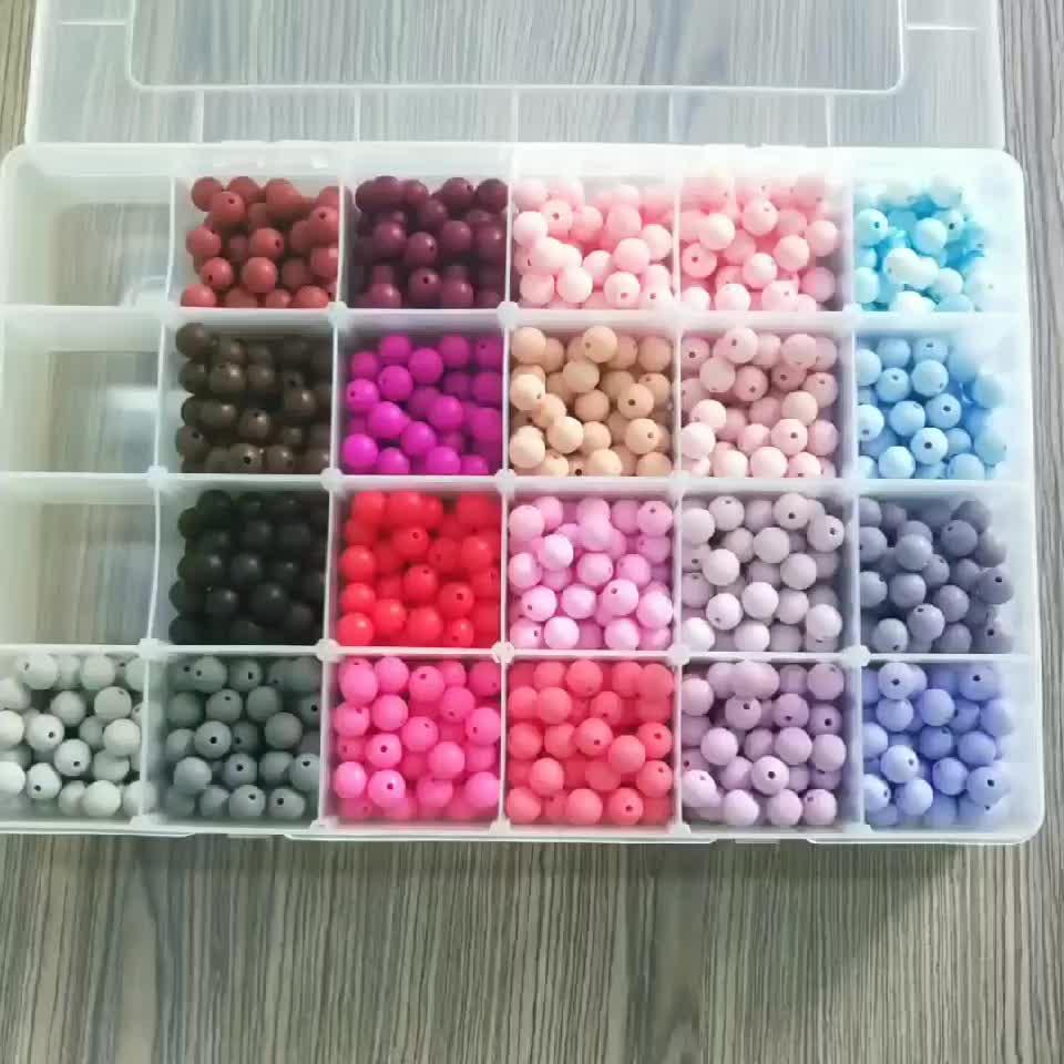 Silikon Perlen Großhandel Runde Baby Zahnen Silikon Perlen Für Zahnen Schmuck Großhandel
