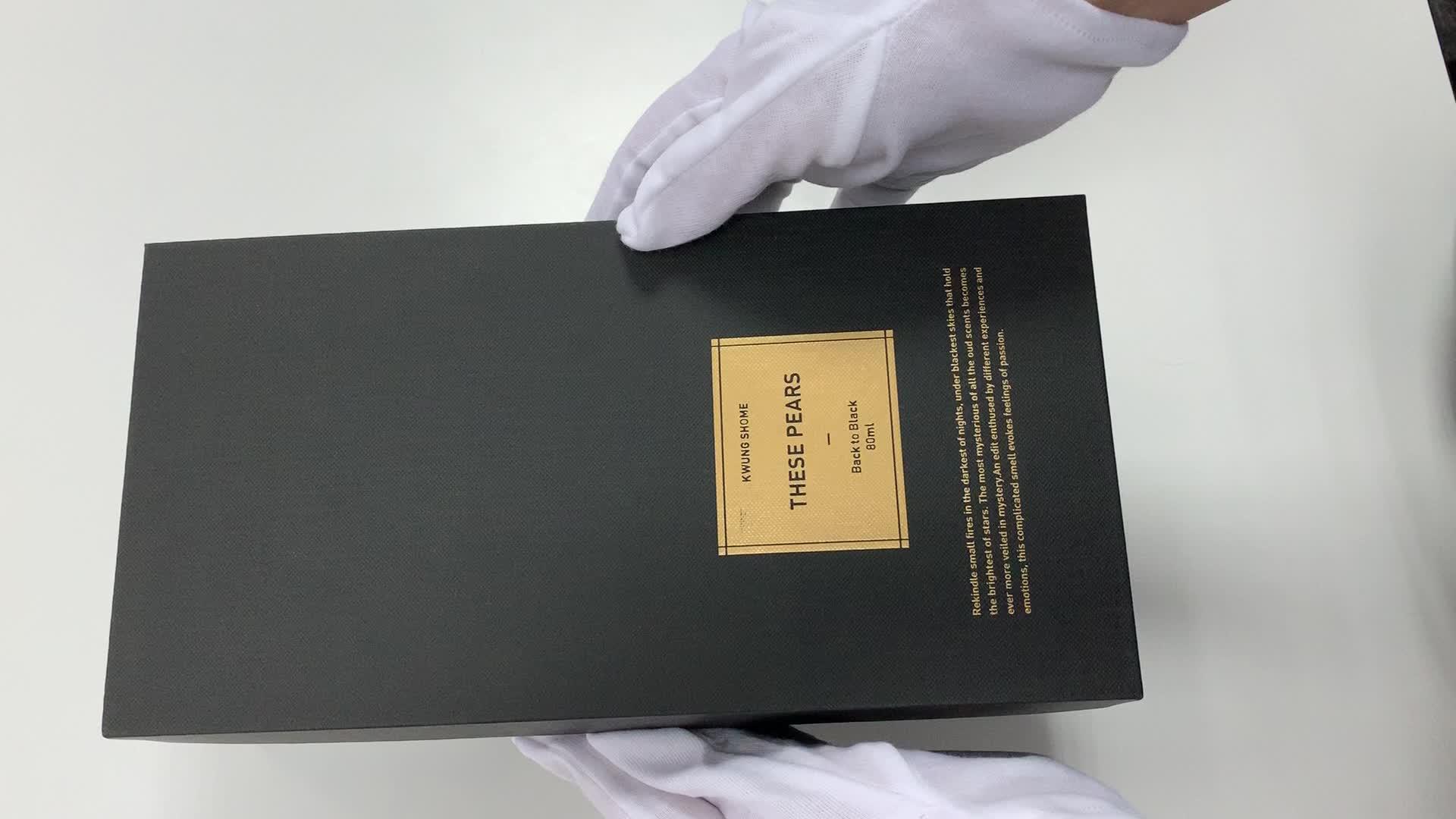 Individuelles logo druck luxus parfüm kosmetik haar ätherisches schmuck uhr papier geschenk verpackung box