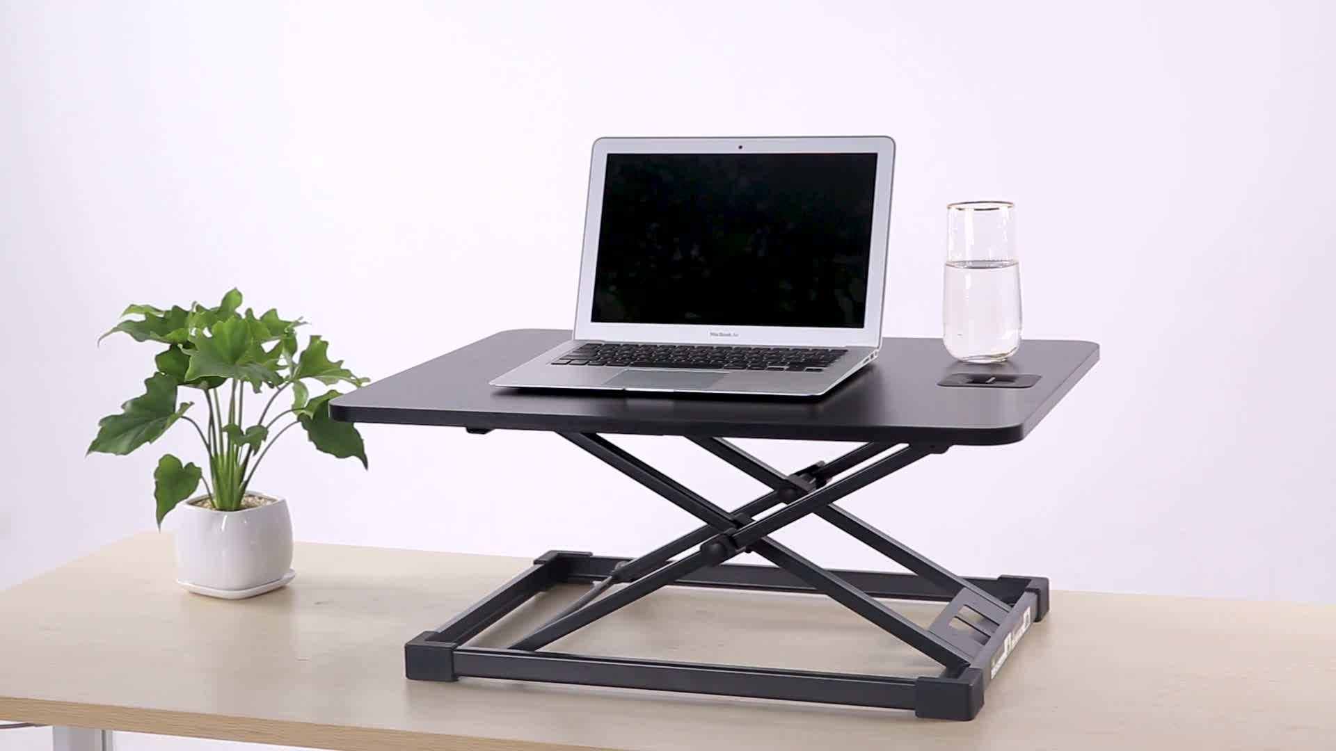 ความสูงปรับขาตั้งแล็ปท็อปพับโต๊ะคอมพิวเตอร์โต๊ะสีขาว