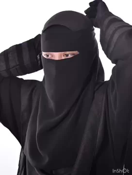 Düz renk bayan suudi Niqab müslüman yüz peçe başörtüsü İslam burka