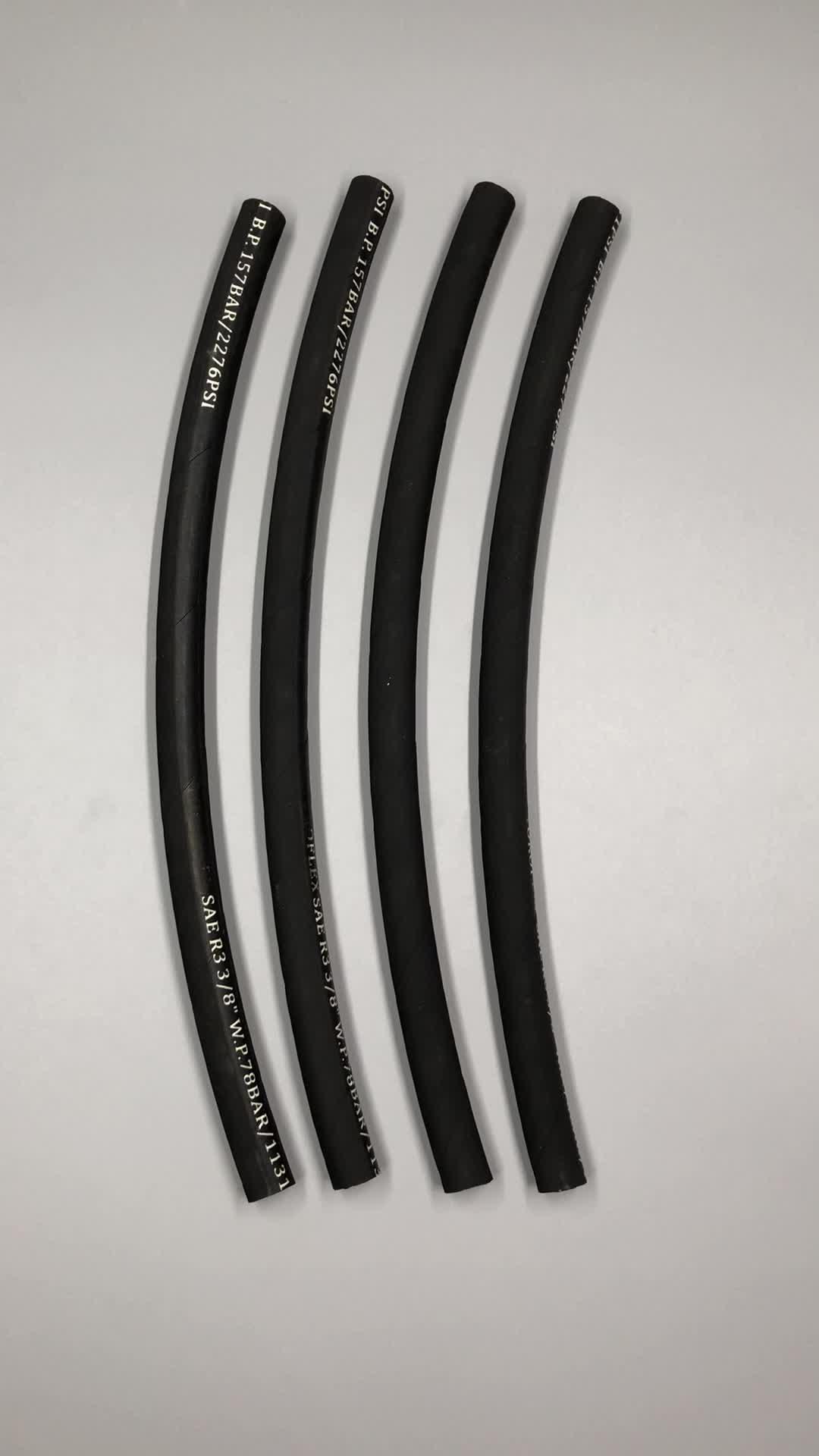 Fabbricazione di nomi di marca treccia in acciaio inox tubo flessibile idraulico SAE 100 R3