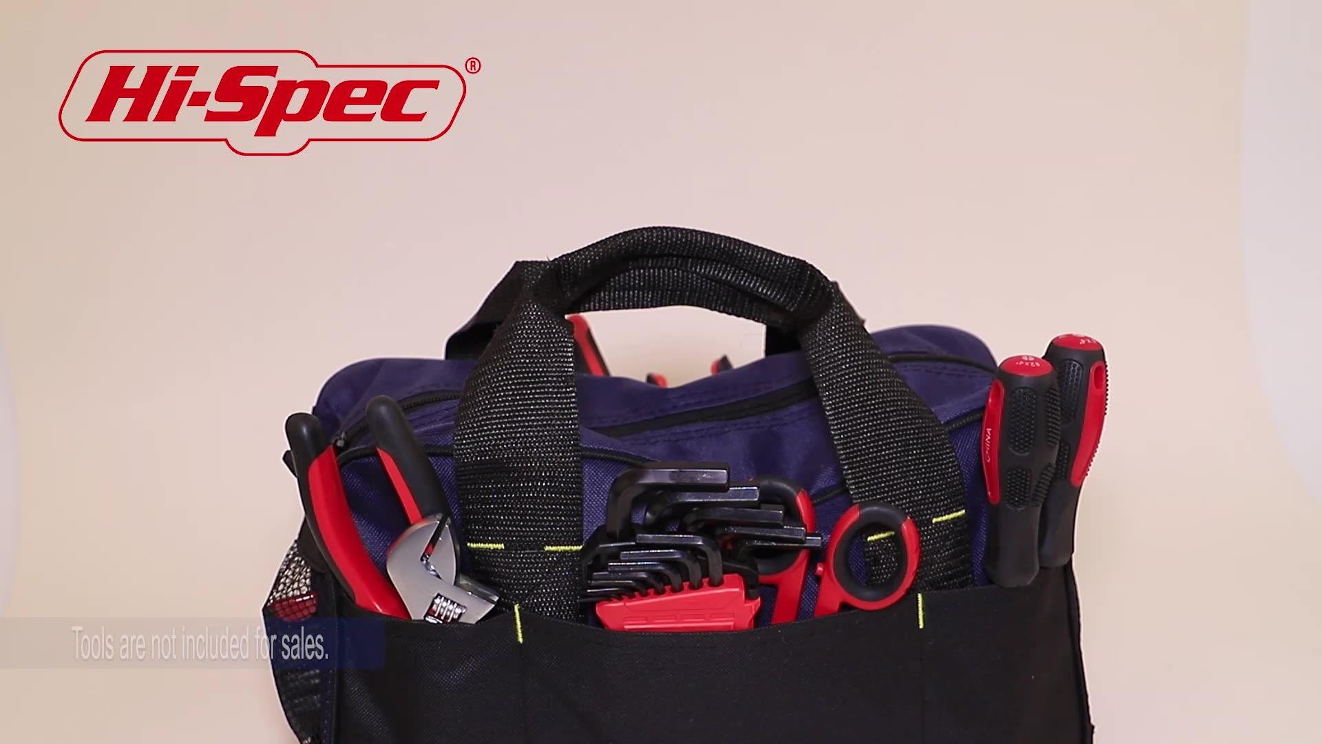 Hispec Elektriker Werkzeug Tasche Mechaniker Werkzeug Lagerung Tasche Gürtel Mehrere Tasche Leinwand Arbeit Schulter Tasche TB008