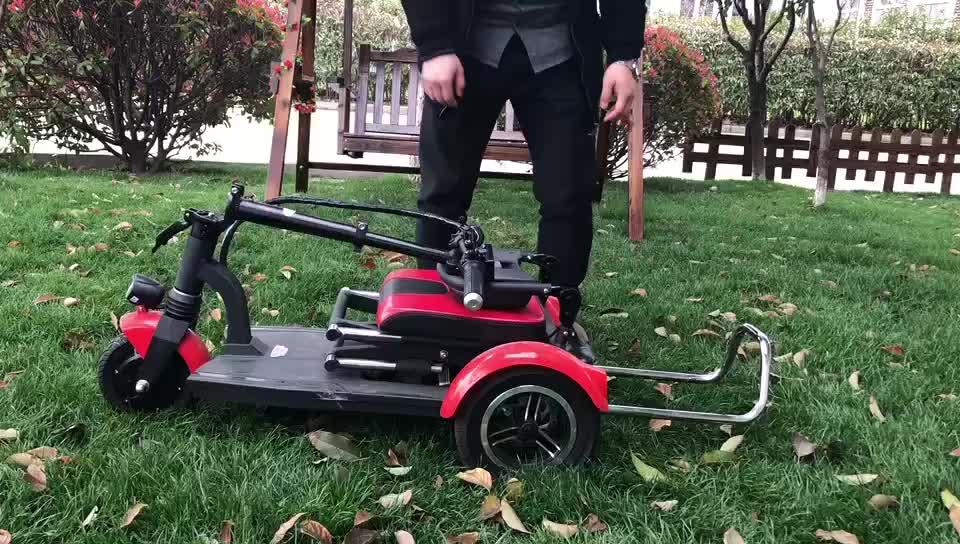 3 ruote Pieghevole Disabili Triciclo Elettrico Mobilità Scooter A Tre Ruote Pieghevole Anziani Mobilità Elettrica Scooter Per Gli Adulti