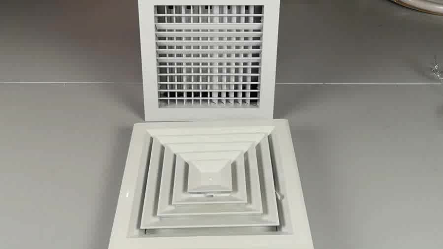 Air Conditioning Square Celling Air Deffuser 4 Way Type