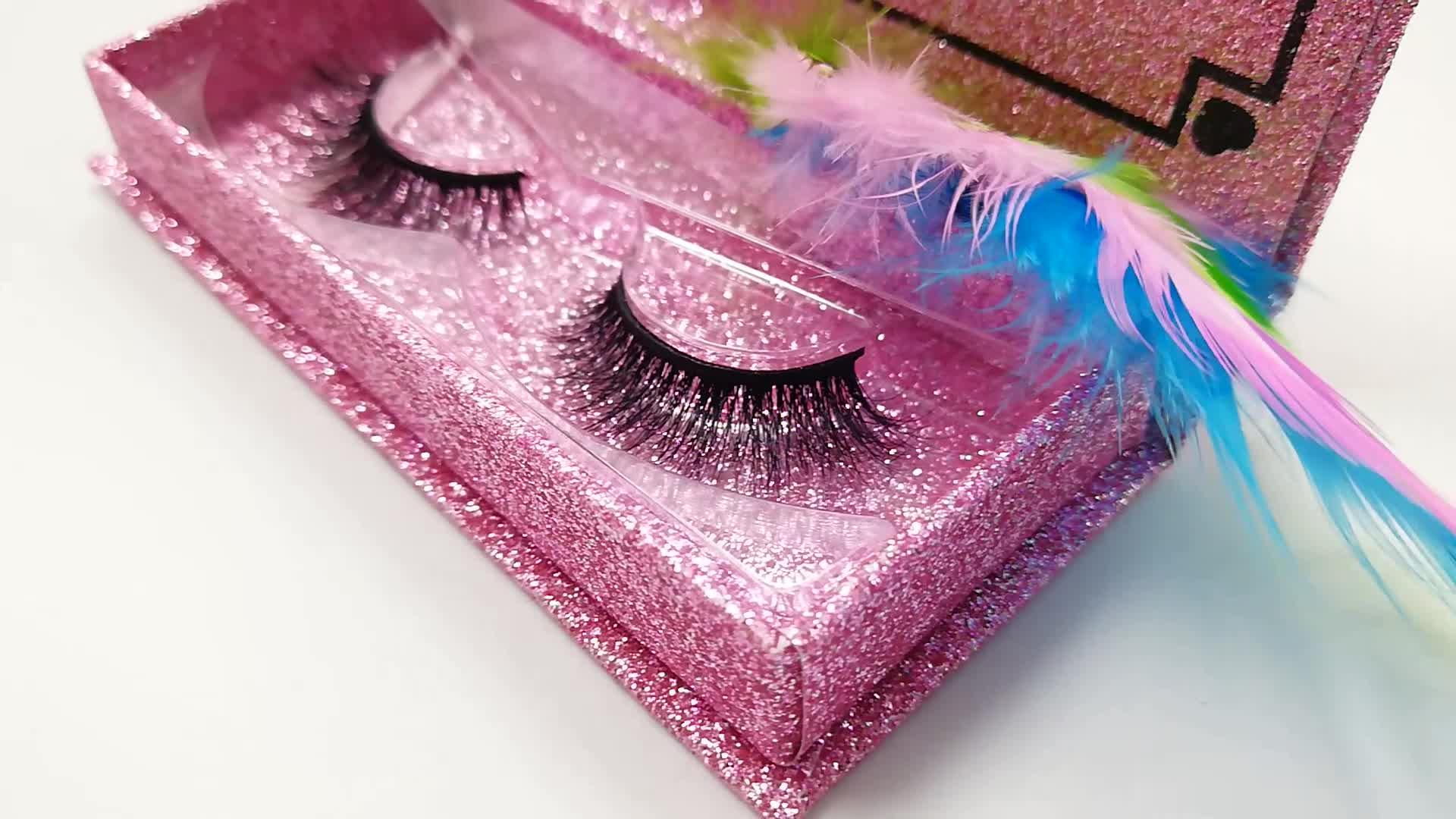 Commercio all'ingrosso private label mink lashes bella ciglia con oro rosa marmorizzazione personalizzato ciglia imballaggio