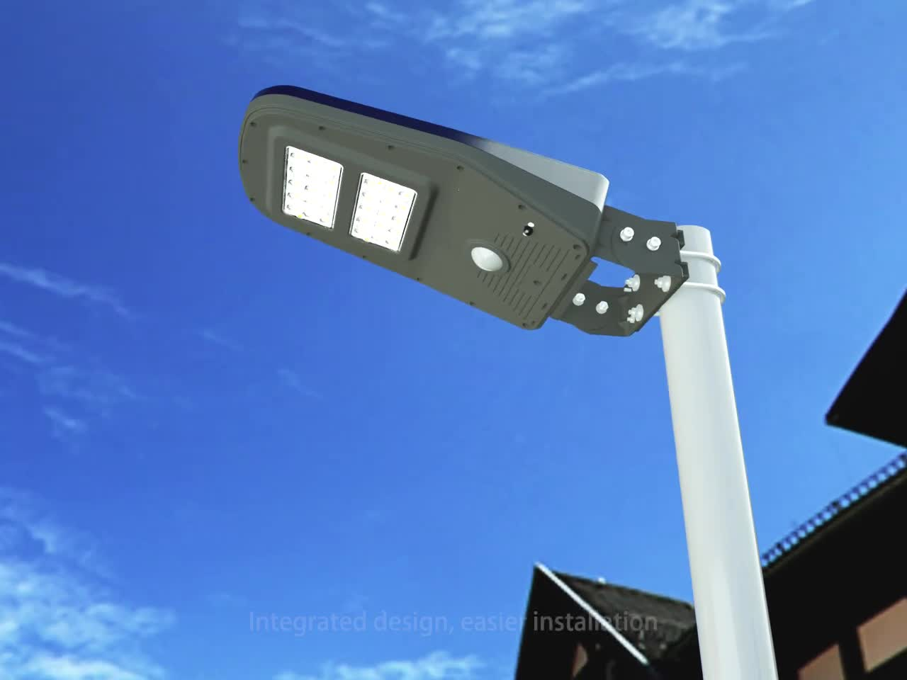 2016 New design 100w magnetic induction solar street light pole with CE certificate