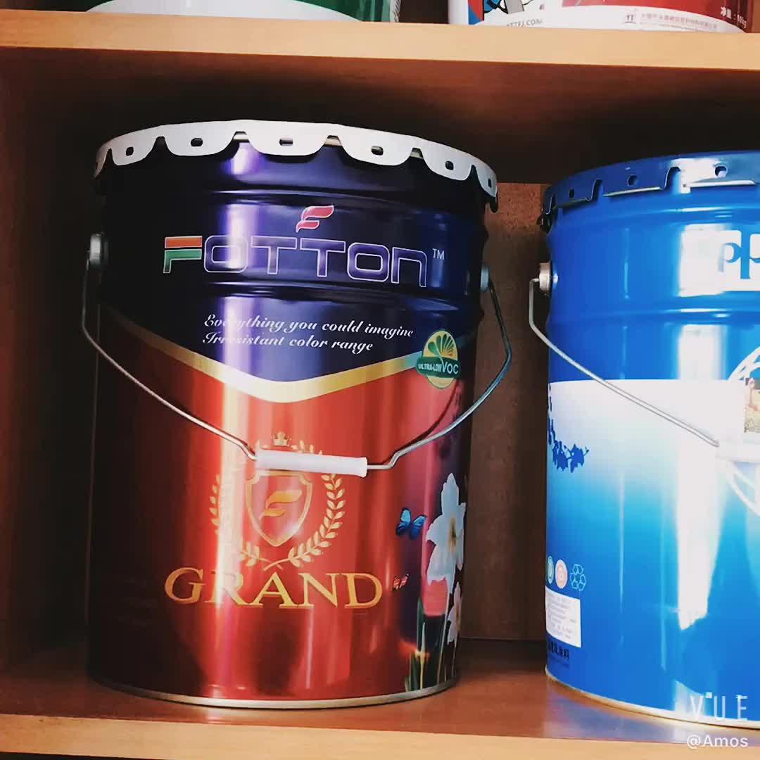 Fabriek Directe Verkoop Olie Drum Verf Tin Vat Met Bloem Rand Deksel En Handvat