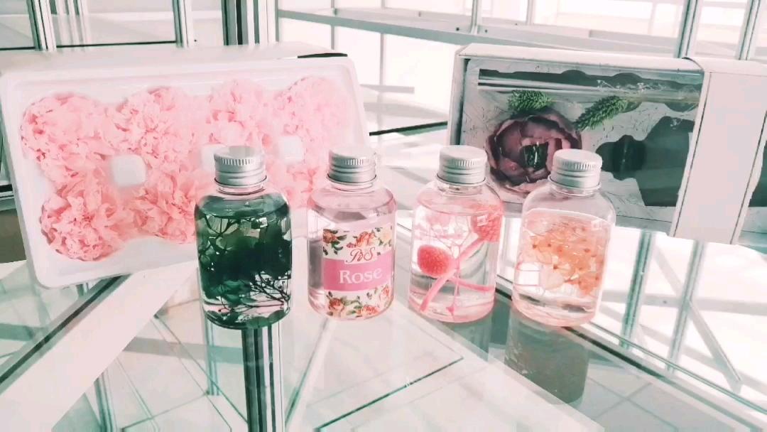 리드 기관총 향기 내화 오일 럭셔리 홈 향기로운 장식 친환경 다채로운 자연 꽃 선물 세트