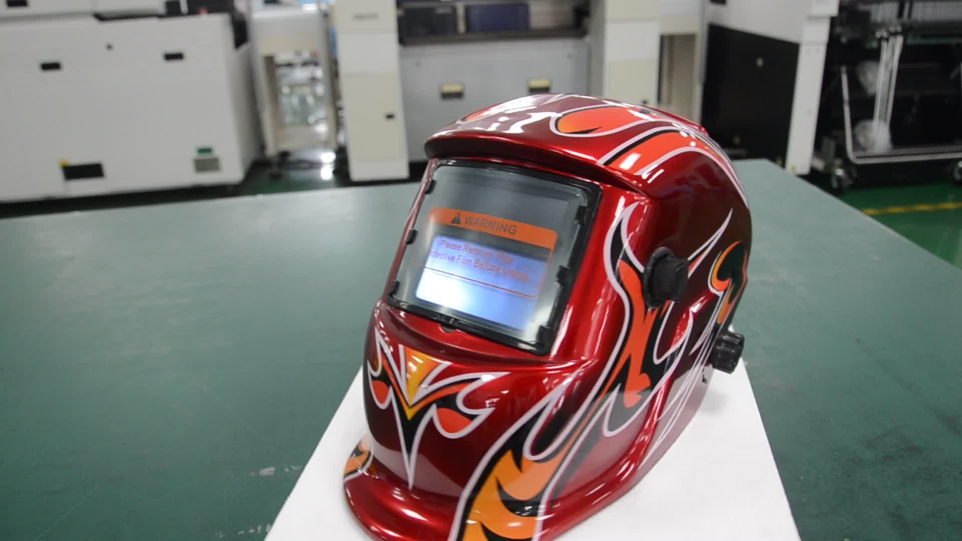 Tuoerqi Manufacturer ISO9100 Shine welder mask Auto darking welding helmet