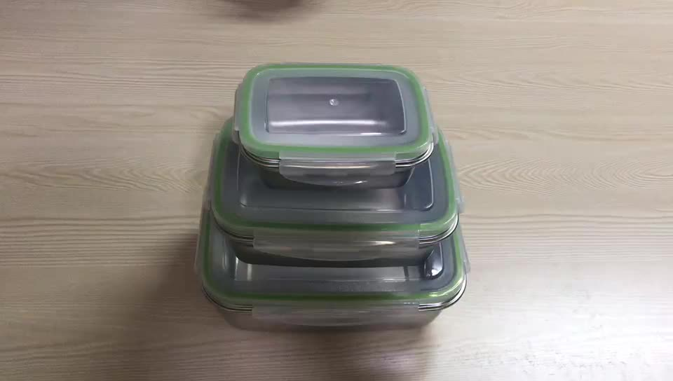 Amazon best selling Lunch Box Stainless Steel Food Storage Container