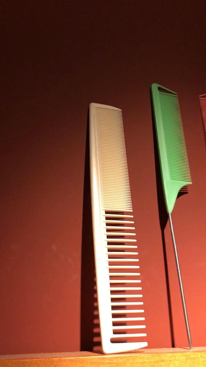 Private label antistatic custom plastic combs black precision rat tail carbon parting hair comb