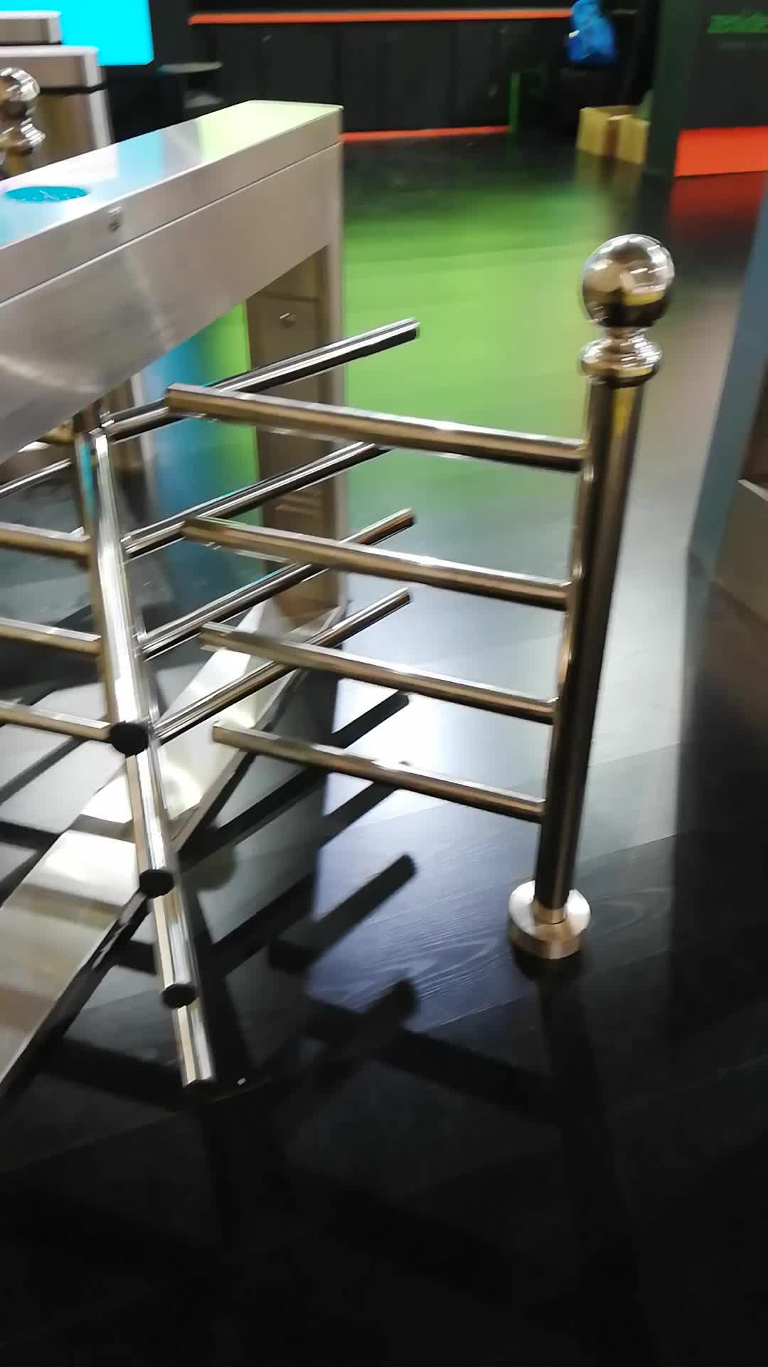 Satu jalur sistem akses kontrol turnstile gate half height turnstile