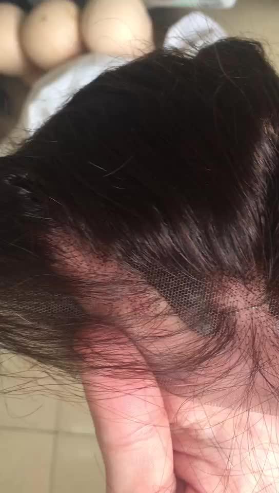 100% non transformés HD dentelle frontale humaine vierge cheveux vague de corps frontale afro bouffée crépus Curl vierge cuticule aligné cheveux frontaux