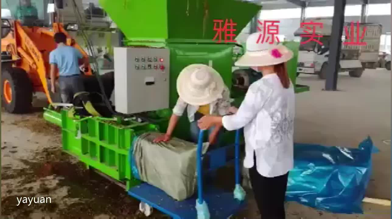 Automatic hay baler and baler machine for grass