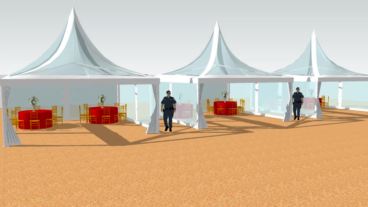 GSX-4 4m manufacture wedding canopy transparent garden pagoda tents for sale