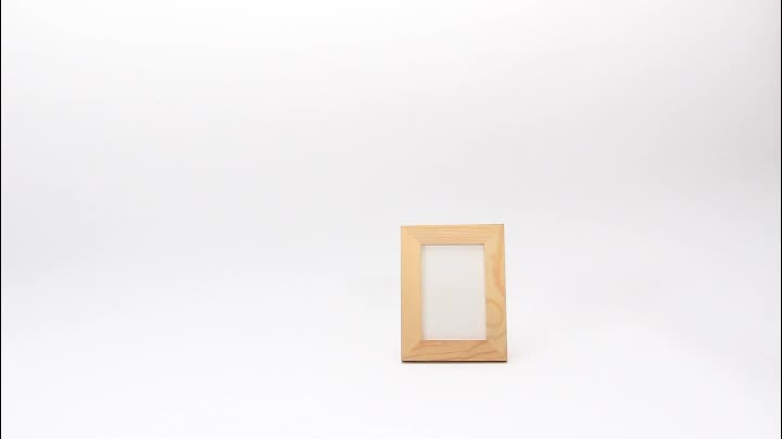 Made of Solid Wood Picture Frame for Table Top Display