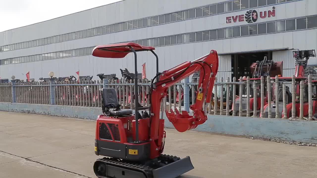 EVERUN Fábrica Fornecedor 0.8Ton ERE08 China mini Escavação Multifunction Pequena Escavadeira Hidráulica sobre esteiras para venda