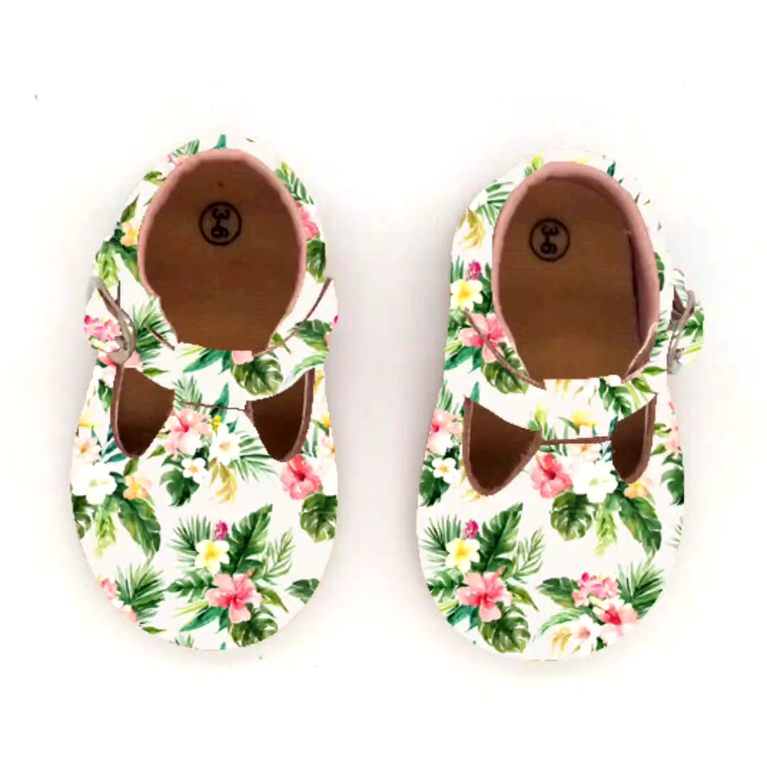 Logotipo personalizado 3D de cuero chico chica niño infantil niños casuales de cuero genuino zapatos de bebé