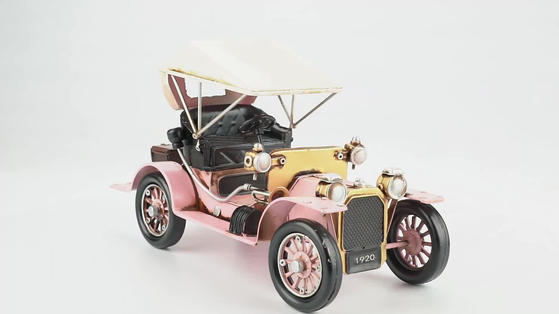 Voiture véhicules en métal vintage artisanat jouet moulé sous pression modèle de voiture pour la décoration (SDMC1010) modèles de voitures rétro