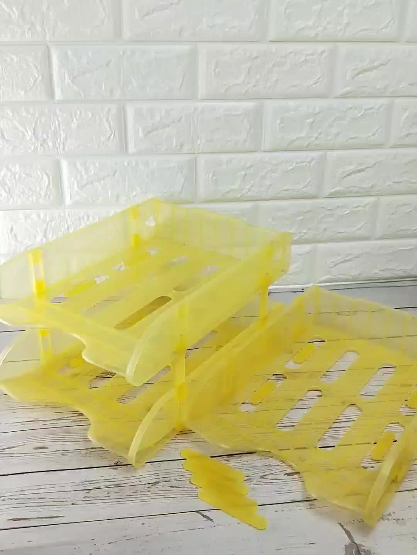 Stapelbarer Plastikablage-Organizer für den Desktop