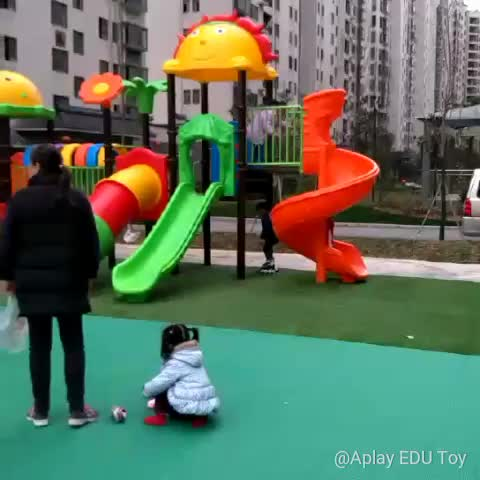 Kids plastic play house used for kindergarten game indoor playground equipment