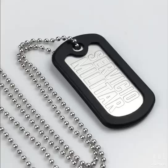Metal men use necklace personalized dog tag for army
