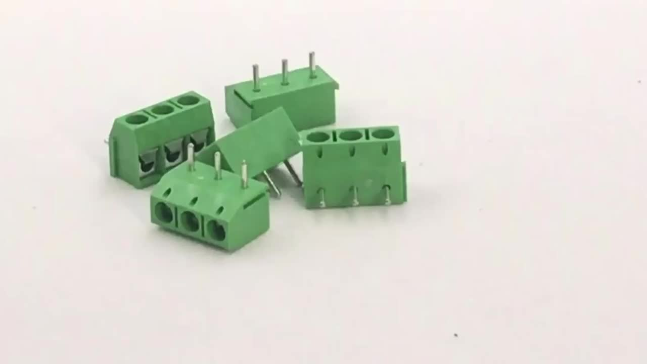 2P 5mm Pitch PCB Screw phoenix Terminal Block Connector 90 angle pin header