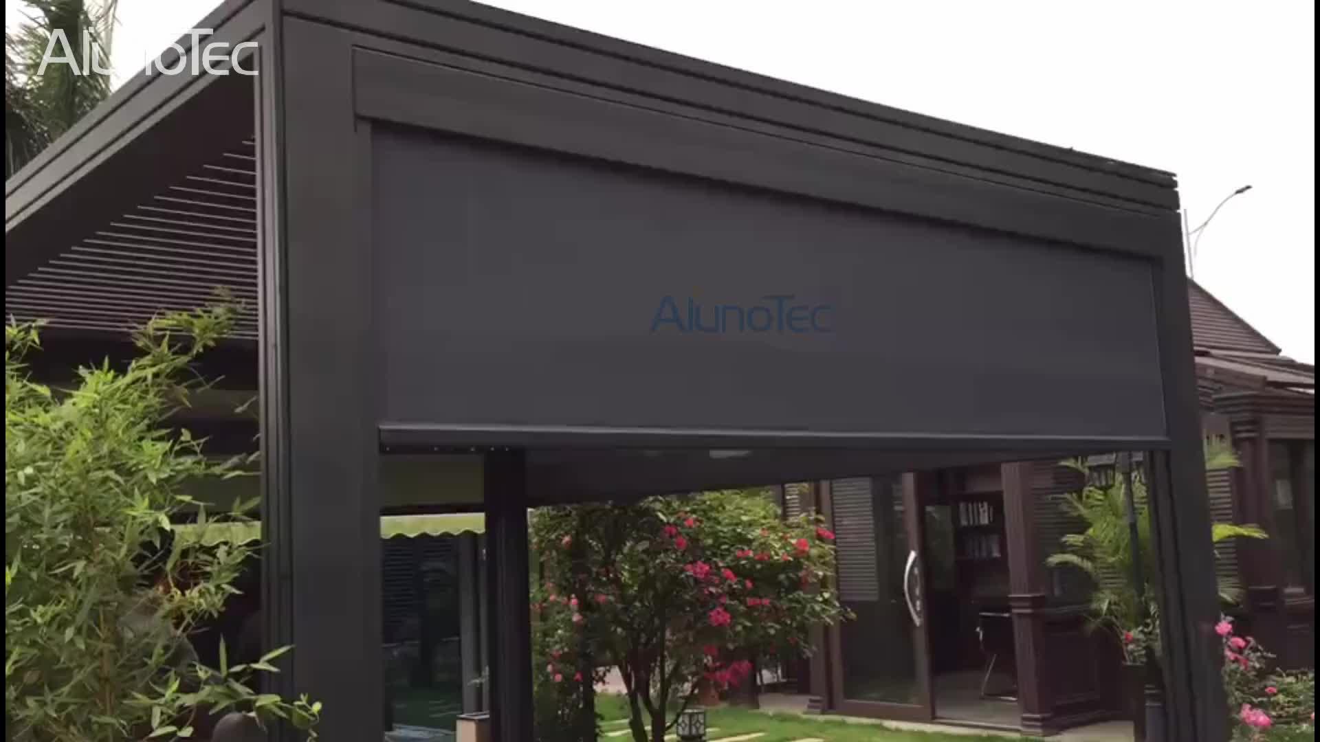 Motorized Outdoor Garden Shade Shutter Roller Zip Screen Blinds For Pergola