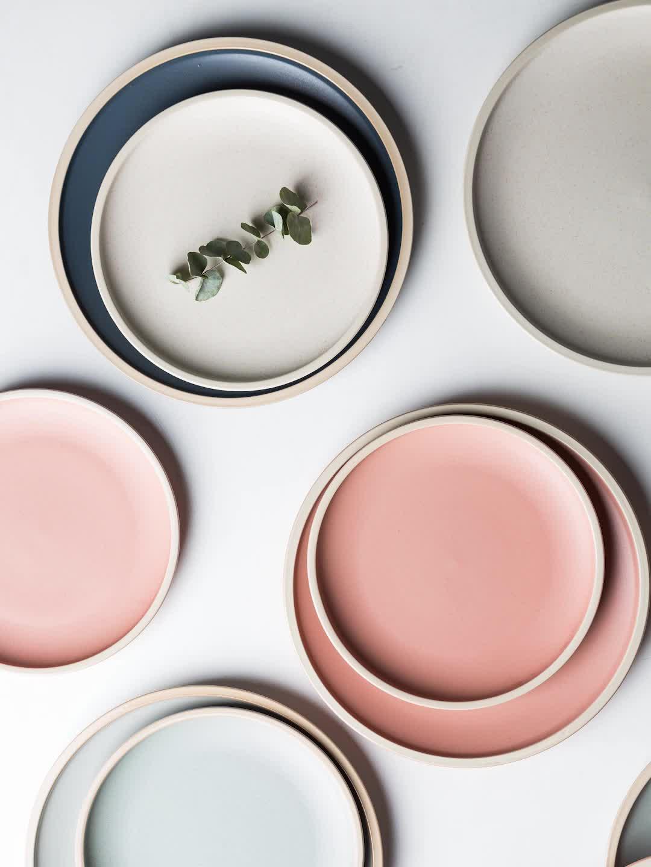 MONAZONE Morandi tono mate de cerámica de la placa de la cena