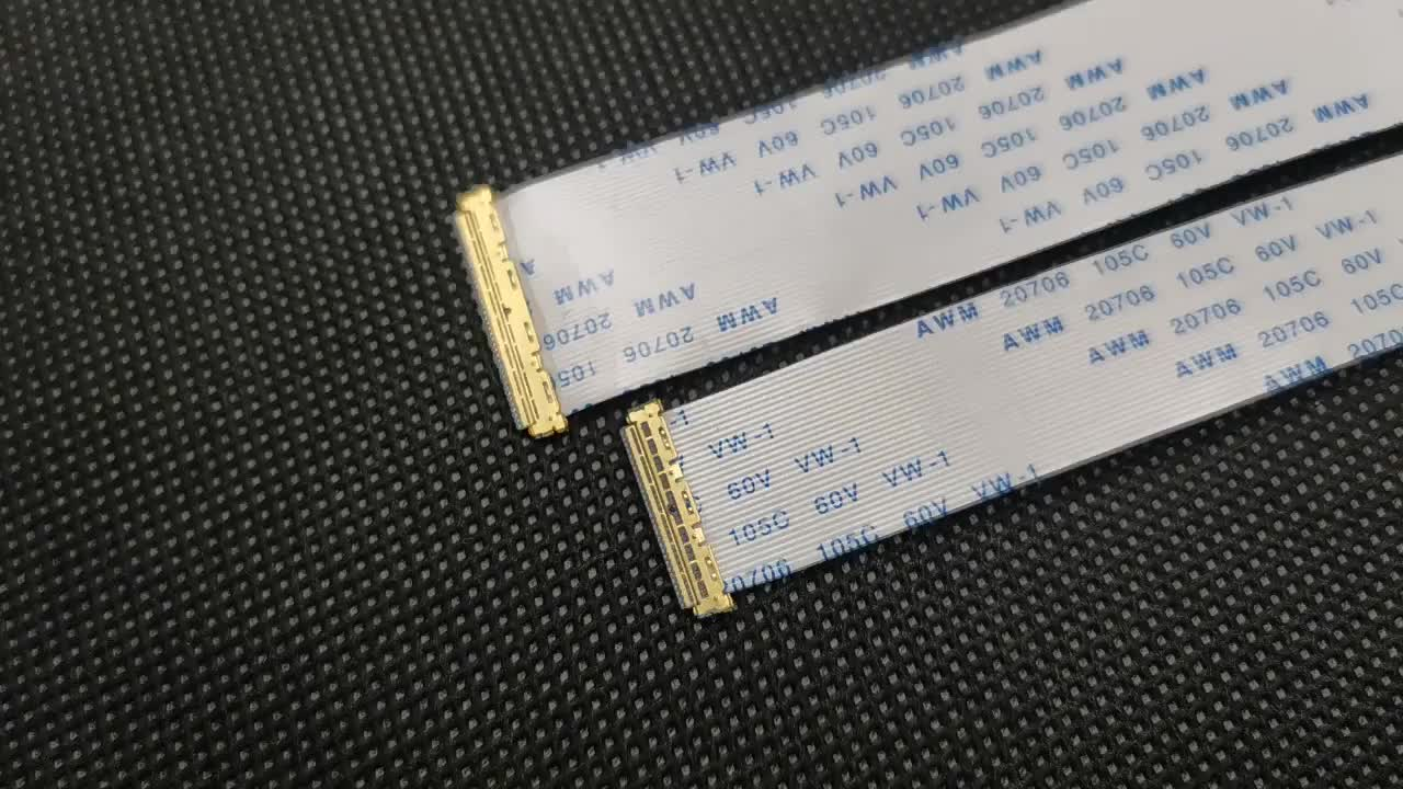 Personalizado 20706 105c 60v vw 1 fpc/ffc conector 30 pin ps3 flex cable ffc