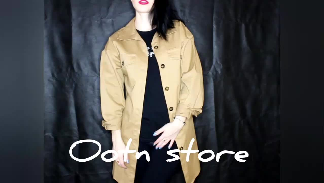 OOTN Khaki 2019 New Outerwear Sashes Vintage Batwing Long Sleeve Mini Dress Office Lady Casual Tunic Shirt Dress Women Dresses