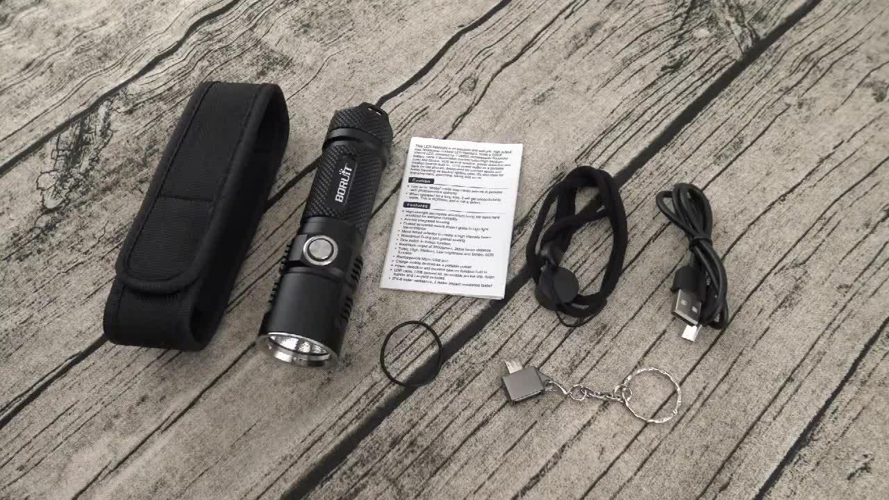 Boruit Đèn Pin Chiến Thuật XHP70.2 LED Torch