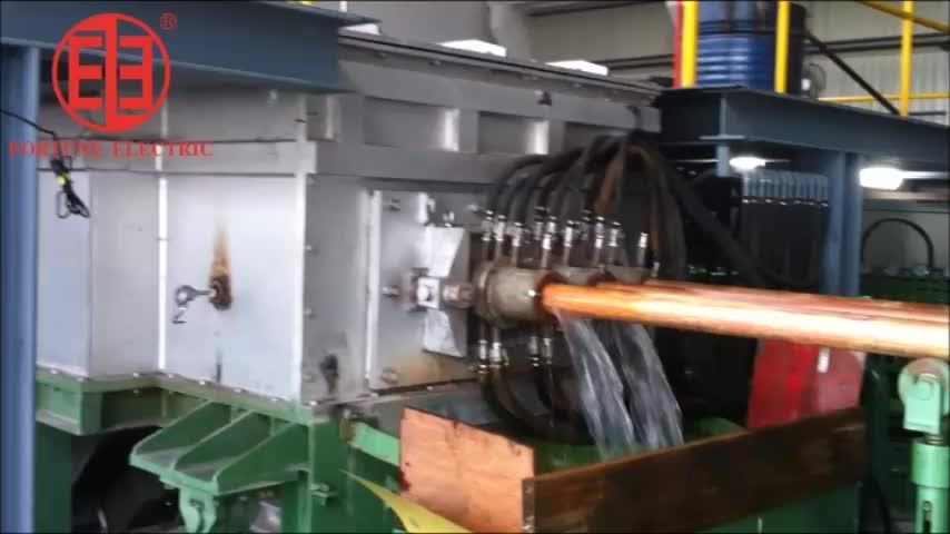 Copper pipe horizontal continuous casting machine sever motor controlled production line