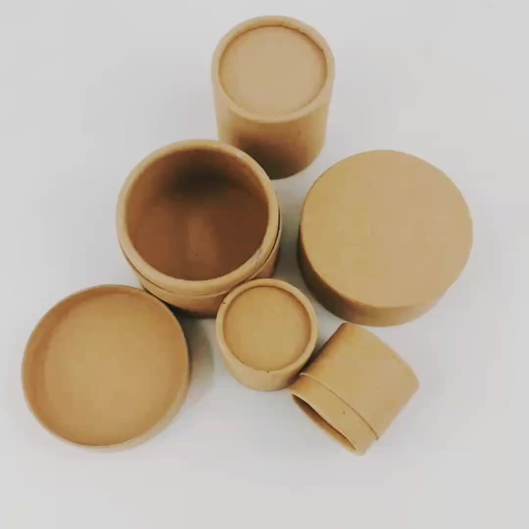 Wholese cylinder cardboard packaging box custom logo kraft cosmetic/candle/jewelry/soap paper tube