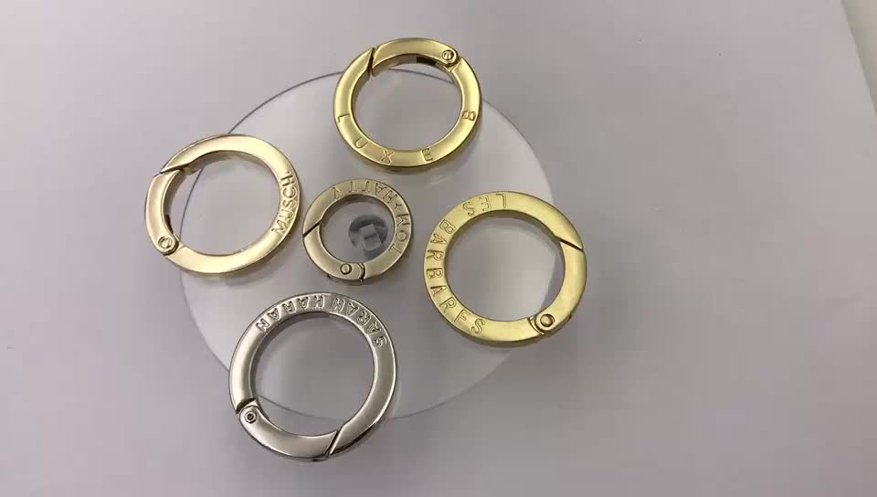 high quality custom metal snap gate O ring spring ring Clasp for bags
