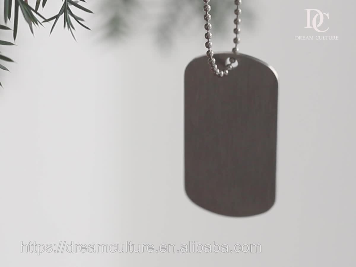 Metal stainless steel military customized sublimation dog tag/dogtag