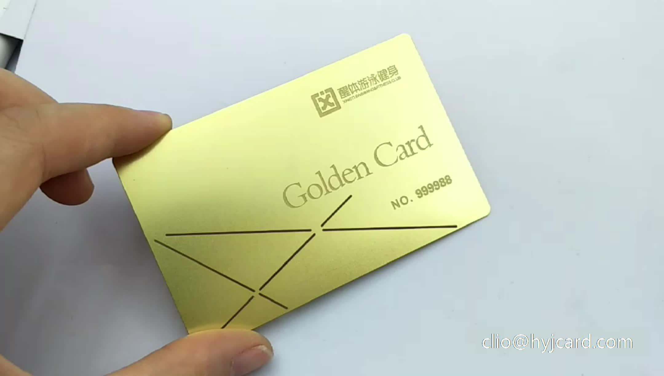 Gravura de corte a laser de aço inoxidável feita sob encomenda nome do cartão de visita cartão de visita do metal