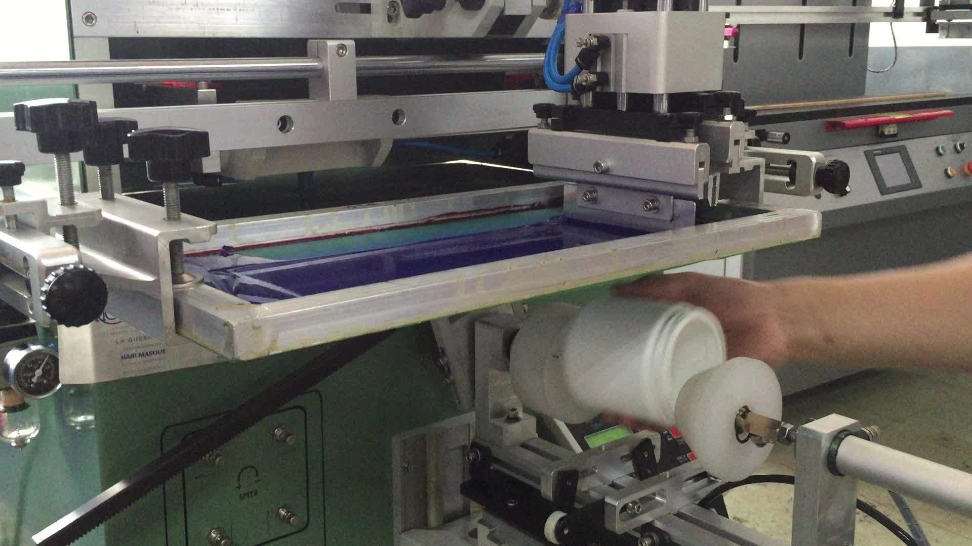 Guangdong Semi-auto Flasche Pneumatische Tief Siebdruck Maschine