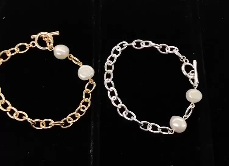 Bracelet en pierre précieuse pour femmes et jeunes filles, bijoux en pierre précieuse blanche, turquoise, druse, or 18K, à chaîne fine