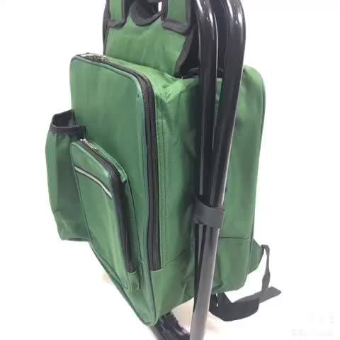 Outdoor camping chair cooler bag seat