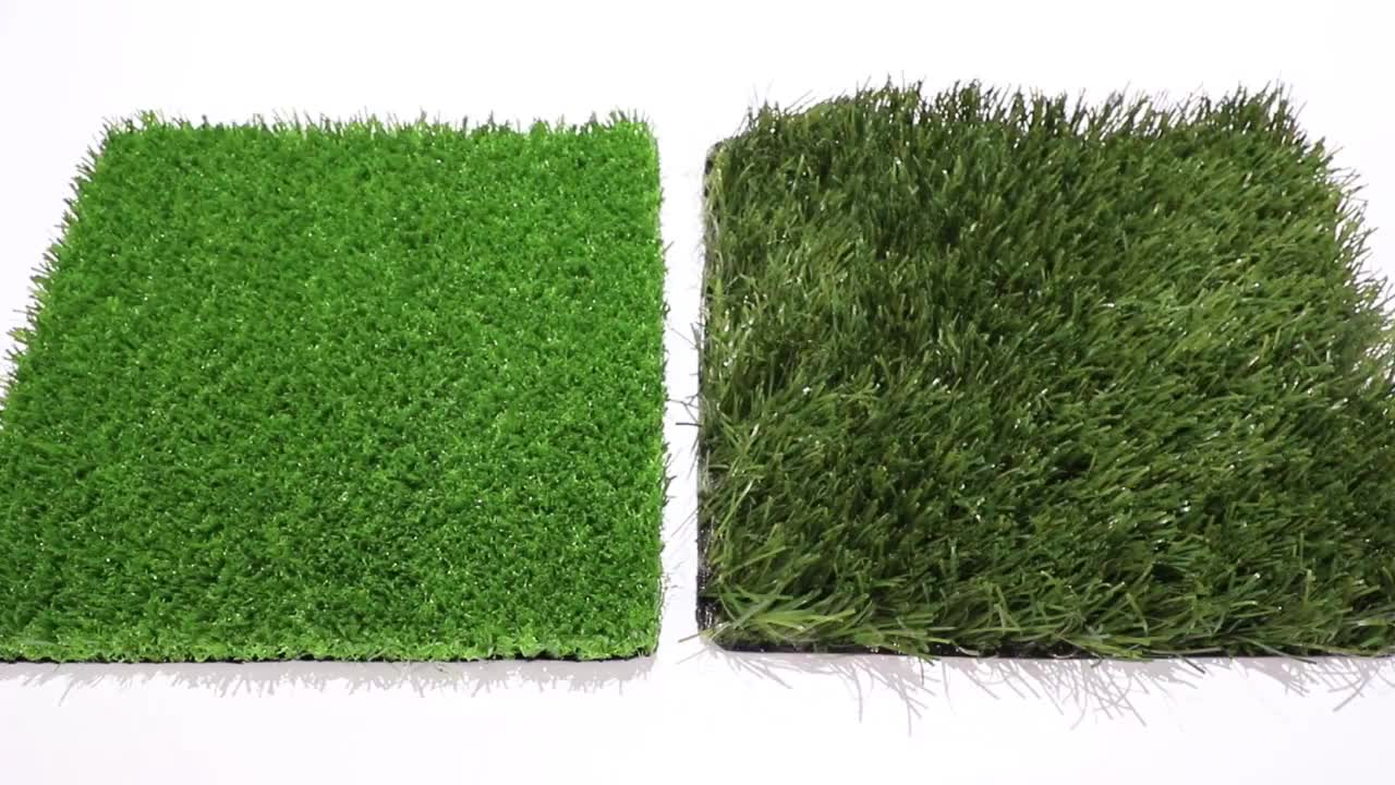 Realistic grass carpet artificial soccer turf
