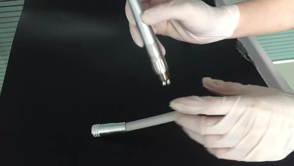 Dental mini hoofd 45 graden glasvezel keramische lager hoge snelheid tandheelkundige handstuk snelkoppeling glasvezel air turbine