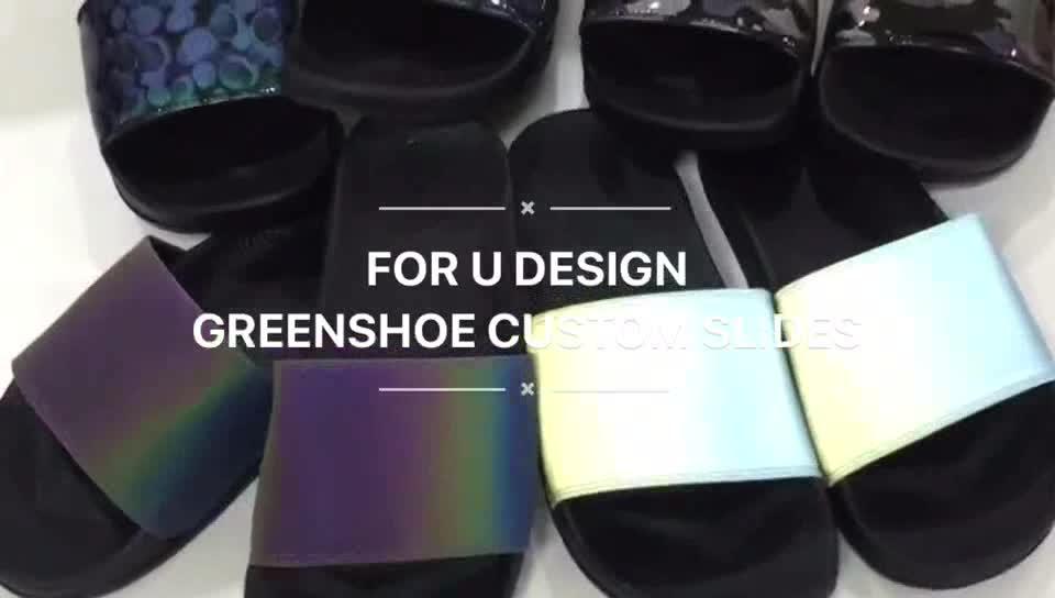 Greatshoe รองเท้าแตะ custom slides สไลด์ผู้ชายรองเท้าแตะรองเท้าแตะชายหาด, custom sandal ที่กำหนดเองสไลด์