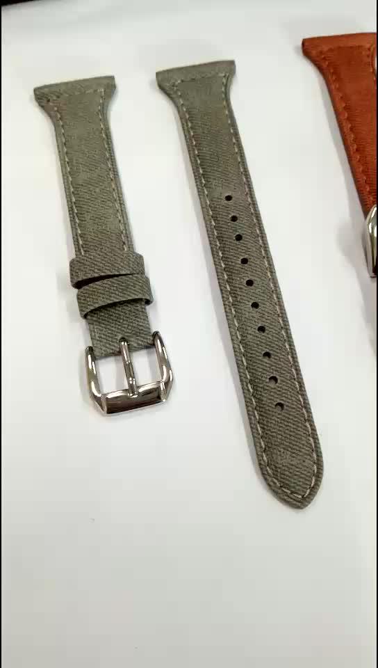 (High) 저 (quality 22x14mm 폭 genuine leather fabric 북대서양 조약기구 (nato watch strap