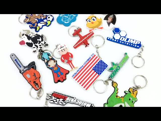 PVC rubber machine made Wholesale cartoon 3D silicone patch/ soft PVC keychain