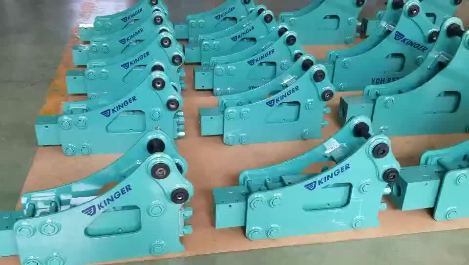 Nuovo disegno KINGER Idraulico Breaker Scalpello/Idraulico Interruttore di Roccia per la vendita