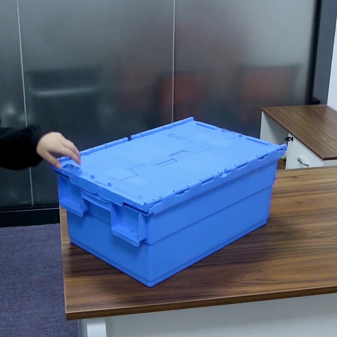 جديد 15 غالون صندوق تخزين وعاء من البلاستيك تكويم & شنقا حقيبة حمل بلاستيكية مربع مع غطاء
