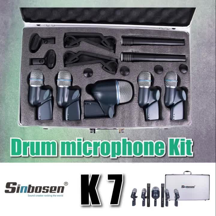 Drum microphone set K7 stage performance drum set recording microphone