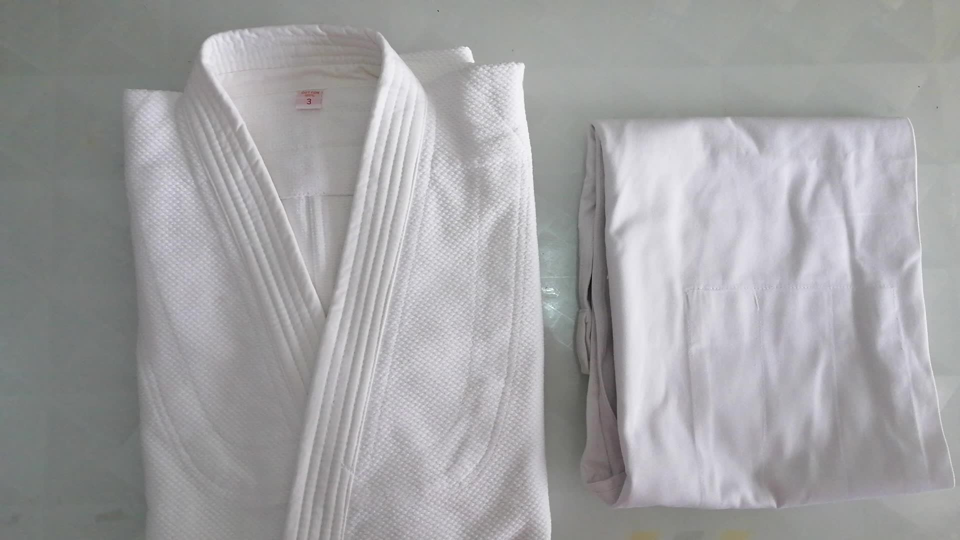 Katoen Bamboe stof blauw training kids Judo gi kimono/judo uniform